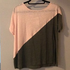 NWT Anthropologie color-block tee
